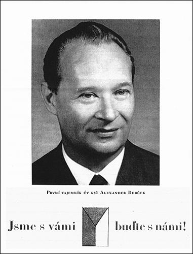 1968 Czechoslovakia resistance leaflet Dubcek poster